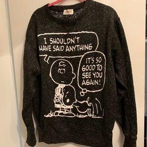 Vintage 90s PEANUTS SNOOPY Sweatshirt Gray L